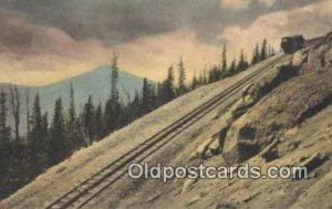 Mt Baldy, Colorado Springs, CO USA Trains, Railroads Postcard Post Card Old V...