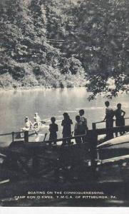 Pennsylvania Pittsburg Boating On The Connoquenessing Camp Kon-O-Kwee Artvue