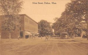 Dalton Massachusetts Main Street Scene Historic Bldgs Antique Postcard K21633