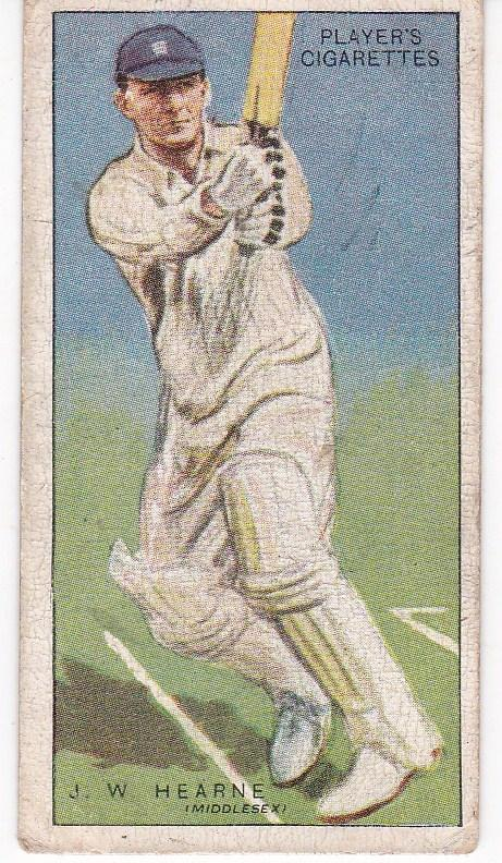Cigarette Cards Player's Cricketers 1930 No 22 - J W Hearne