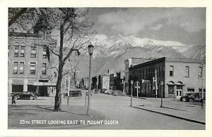 W/B 25th Street Looking East to Mount Ogden Utah UT