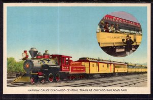 Narrow Guage Deadwood Central Train at Chicago Railroad Fair