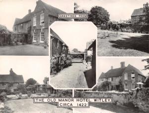Rare Real Photo Vintage Postcard c1960s The Old Manor Hotel, Witley, Surrey C85