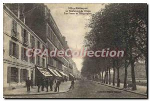 Old Postcard Quimper Boulevard Odet posts and Telegraphs