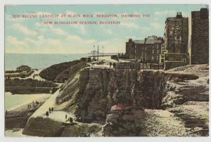 The Recent Landslip at Black Rock Bungalow Station Brighton UK Sussex Postcard
