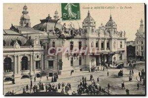 Old Postcard Monte Carlo Casino The Facade