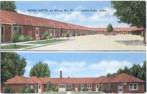 Kruse Motel on Hiway 91 in Idaho Falls ID, Linen