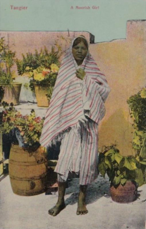 Morocco Tanger A Moorish Girl