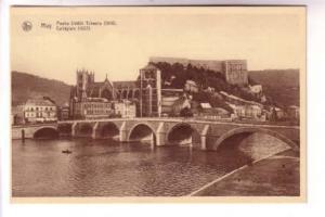 Sepia, Bridge and College, Huy, Belgium, Nels