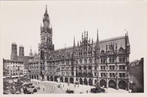 Germany Muenchen Rathaus Real Photo