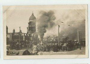 Real Photo Postcard ~ FIRE in San Francisco , CA   Circa 1908