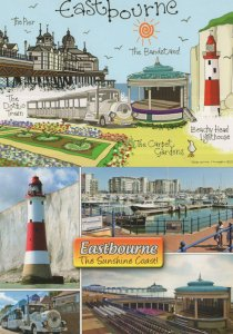 Eastbourne The Dotto Train About To Crash Bandstand Comic Sussex 2x Postcard