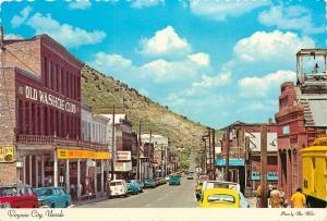 Virginia City Nevada Main Street Downtown Washoe CLub Sharon Ponderosa Postcard