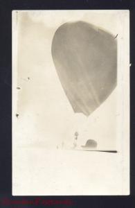 RPPC LAKEHURST NEW JERSEY BALLOON ASCENSION HOT AIR 1910 REAL PHOTO POSTCARD