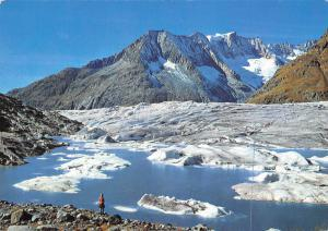 Switzerland Der Marjelensee am Grossen Aletschgletscher Geisshorn