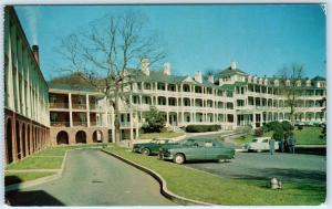 NATURAL BRIDGE, Virginia  VA   Roadside MOTOR INN & HOTEL c1950s Cars  Postcard