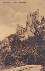Der Rhein, Ruine Drachenfels, Germany, 1900-1910s