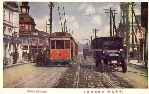 japan, TOKYO, Ginza Street, Streetcar, Tram Bus (1930s)
