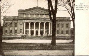 Ohio Columbus Franklin County Memorial Hall