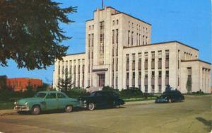 Hotel de Ville City Hall Shawinigan PQ Quebec QC Old Cars Vintage Postcard D7