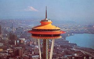 WA - Seattle, Space Needle, Close-Up of Top