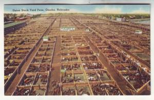 P533 JLs 1930-45 linen union livestock yards market omaha nebraska