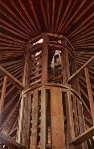 MA - Pittsfield. Hancock Shaker Village. Round Stone Barn Interior