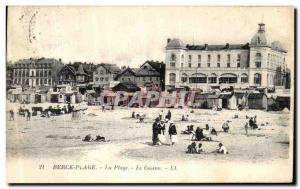 Old Postcard Berck Beach The Beach Casino