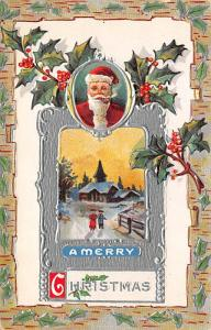 Santa Claus Post Card Old Vintage Antique Christmas Postcard Unused