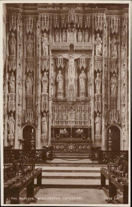The Reredos Winchester Cathedral interior UK