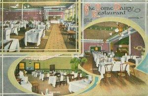 C-1910 Home Dairy Restaurant Denver Colorado Interior Postcard 20-14399