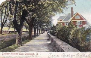 Rhode Island East Greenwich Spencer Avenue Residential Scene 1907
