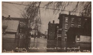Flood  Disasters Connecticut Hartford March 1936  Angry Water Pleasant St
