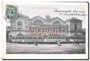 Old Postcard Paris Gare Montparnasse