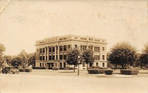 Tekamah Nebraska~Burt County Court House~1920s Cars~Real Photo Postcard~RPPC