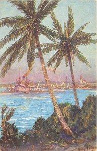 Lot 93 daressalam Dar es Salaam Tanzania Mzizima painting postcard ship