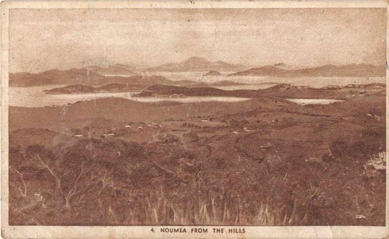 Noumea New Caledonia Scenic View from the Hills Antique Postcard J50392