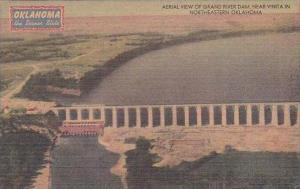 Oklahoma Northeastern Aerial View Of Grand River Dam Near Vinta In