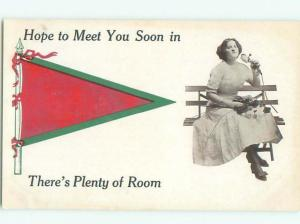 Divided-Back PRETTY WOMAN Risque Interest Postcard AA7897