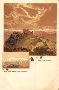 Rigi Kulm Switzerland Scenic View Antique Postcard J50515