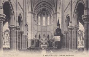 VALLET, France, 1900-1910's; Interieur De L'Eglise