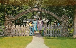 Rockome Gardens Rainbow Entrance Arcola Illinois IL Amish Country Postcard