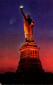 New York City Statue Of Liberty 1956