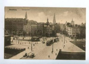151602 Germany HAMBURG Georgsplatz TRAM Vintage postcard