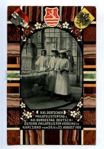 206479 AUSTRIA 1909 Philatelic Exhibition Karlsbad STATIONARY