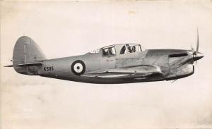 British England AIRPLANE RPPC c30-40s HAWKER HENLEY K5115 Prop 4