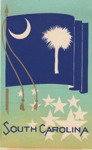SOUTH CAROLINA , State Flag , 40-50s ; Serigraph