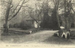 france, RAMBOUILLET, Le Parc, Les Coquillages et Pont sur la Riviere (1910s) LL