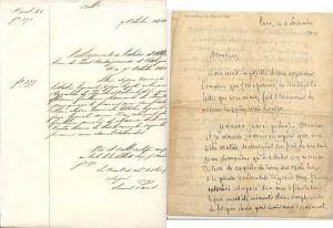 France - Two 19th Century Documents Judaica