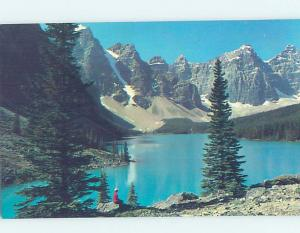Unused Pre-1980 LAKE SCENE Moraine Lake - Banff National Park Alberta AB F3190
